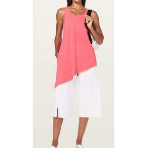 LULULEMON To The Point Side Tie Pink Tank Top 10